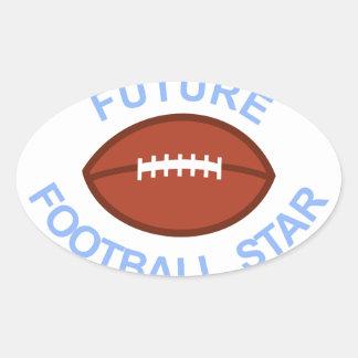 Future Football Star Oval Sticker