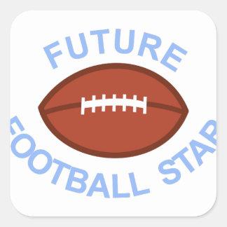 Future Football Star Square Sticker