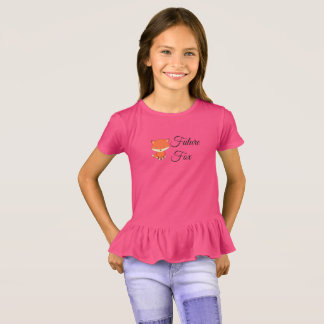 Future Fox - Girls' Ruffle T-Shirt