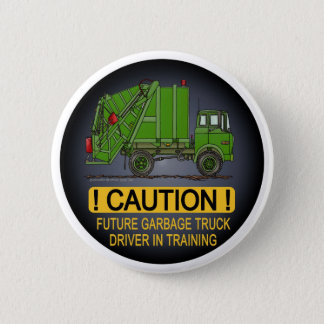 Future Garbage Truck Green Driver Button Pin