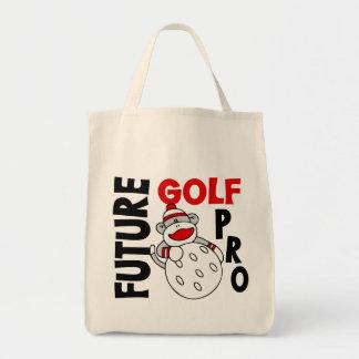 Future Golf Pro Sock Monkey Tote Bag