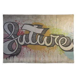 'FUTURE' Graffiti Colourful Design Placemat