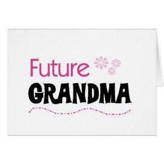 Future Grandma Tshirts and Gifts Greeting Card