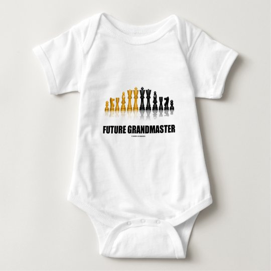 Future Grandmaster (Reflective Chess Set) Baby Bodysuit