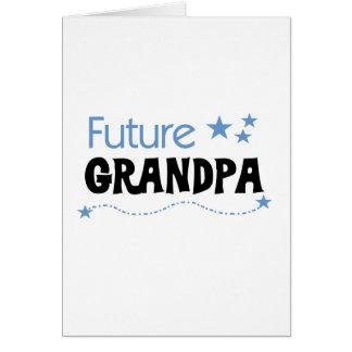 Future Grandpa Tshirts and Gifts Greeting Card
