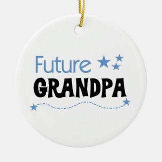 Future Grandpa Tshirts and Gifts Round Ceramic Decoration