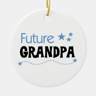 Future Grandpa Tshirts and Gifts Round Ceramic Decoration