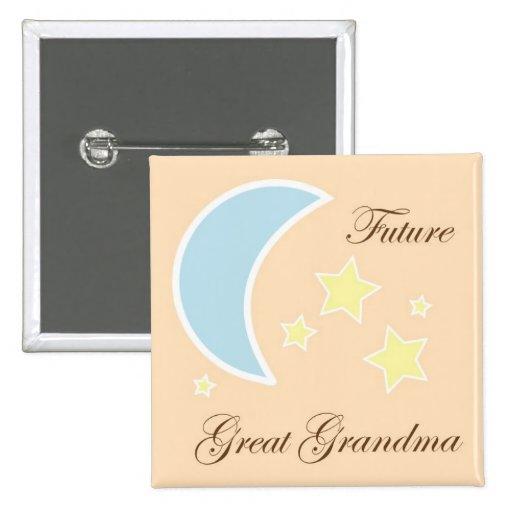 future great grandma baby shower pin zazzle. Black Bedroom Furniture Sets. Home Design Ideas