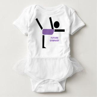 Future gymnast, gymnastics performer custom baby bodysuit