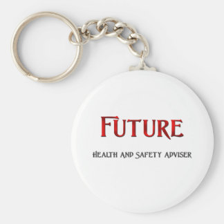 Future Health And Safety Adviser Basic Round Button Key Ring