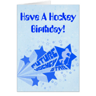 Future Hockey Star Birthday Card