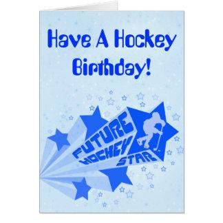 Future Hockey Star Birthday Card