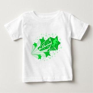 Future Hockey Star (green) Baby T-Shirt