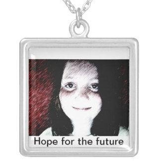 Future Hope Square Pendant Necklace