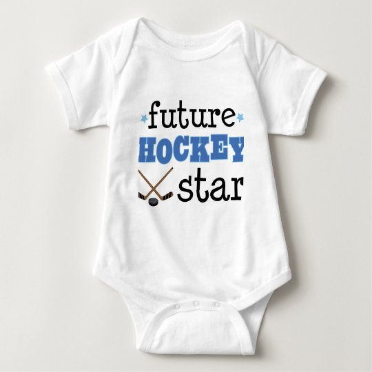 Future Ice Hockey Star Sports Baby Bodysuit