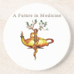 Future in Medicine Beverage Coasters