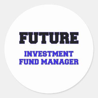 Future Investment Fund Manager Round Sticker