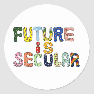 FUTURE IS SECULAR CLASSIC ROUND STICKER