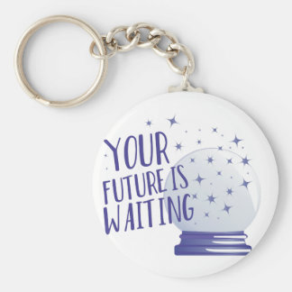 Future Is Waiting Basic Round Button Key Ring