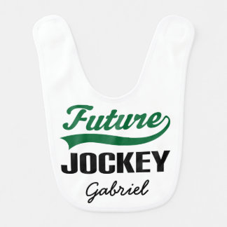 Future Jockey Personalized Baby Bib