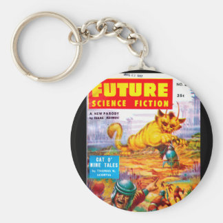 Future June 1957_Pulp Art Basic Round Button Key Ring