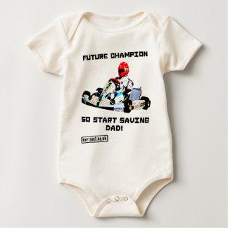 Future Karting Champion Start Saving Baby Bodysuit