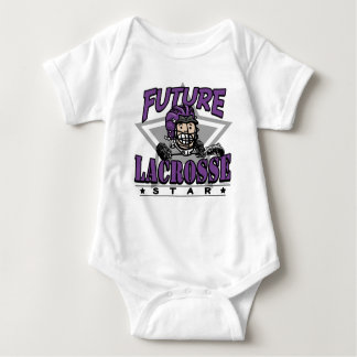 Future Lacrosse Star Purple Baby Bodysuit