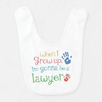 Future Lawyer Baby Bib