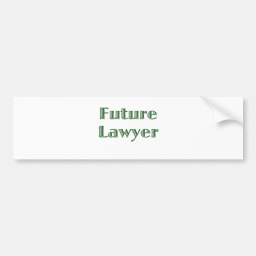 Future Lawyer Bumper Stickers