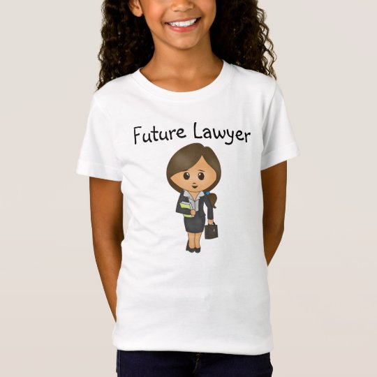 Future Lawyer - Cute Brunette Female Lawyer T-Shirt