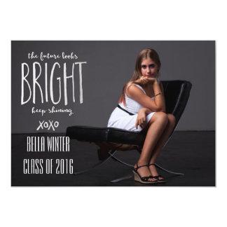 Future Looks Bright Silver 13 Cm X 18 Cm Invitation Card