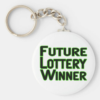 Future Lottery Winner Key Ring