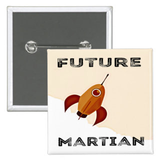 Future Martian Square Button