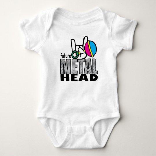 Future Metal Head crawler. Baby Bodysuit