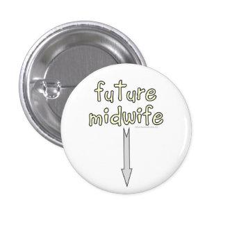 future midwife 3 cm round badge