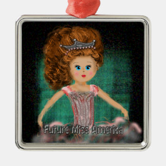 Future Miss America design Christmas Ornament