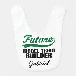 Future Model Train Builder Personalized Baby Bib
