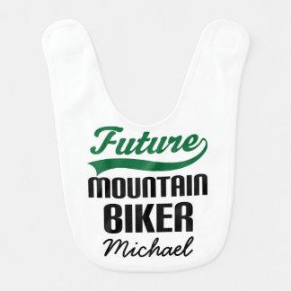 Future Mountain Biker Personalized Baby Bib