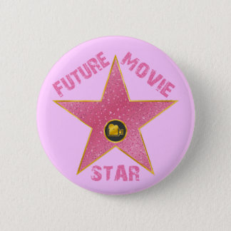 FUTURE MOVIE STAR 6 CM ROUND BADGE