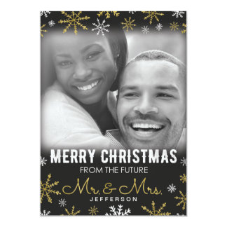 Future Mr. and Mrs. Christmas Holiday 13 Cm X 18 Cm Invitation Card