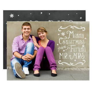 Future Mr. and Mrs.   Christmas Photo Card 13 Cm X 18 Cm Invitation Card