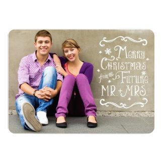 "Future Mr. and Mrs.   Christmas Photo Card 5"" X 7"" Invitation Card"