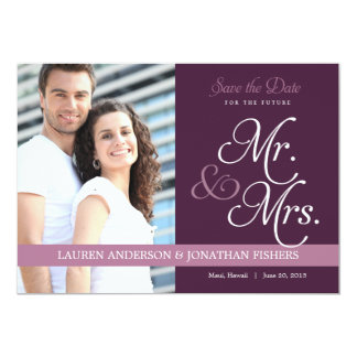 Future Mr. and Mrs. Save The Date 13 Cm X 18 Cm Invitation Card