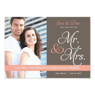 Future Mr. and Mrs. Save The Date 13 Cm X 18 Cm Invitation Card