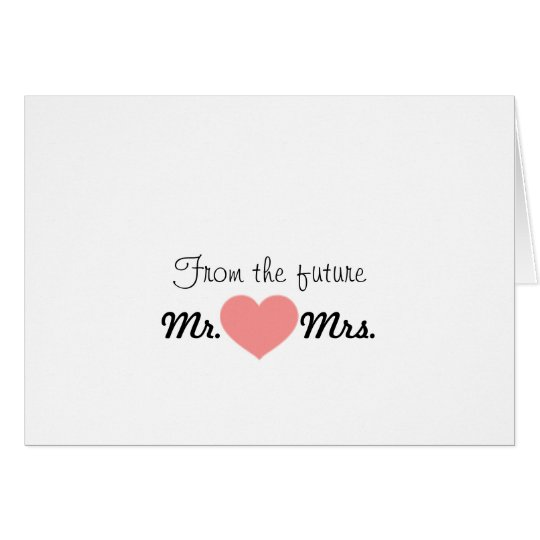 Future Mr. & Mrs. Thank you note Card