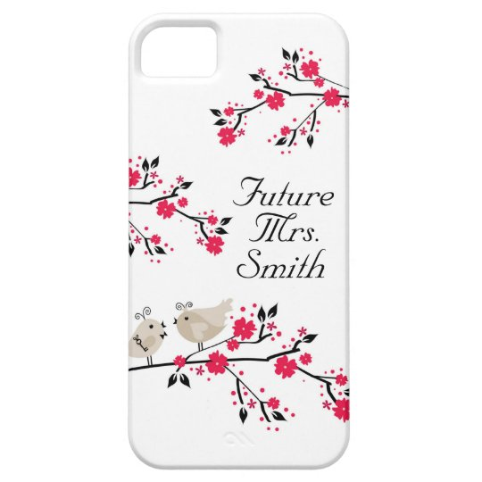 Future Mrs. Bride To Be Wedding Birds iPhone