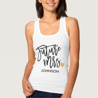 Future Mrs.Calligraphy Personalized Tank Top