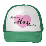 Future Mrs. Carter Personalised Name Trucker Hat