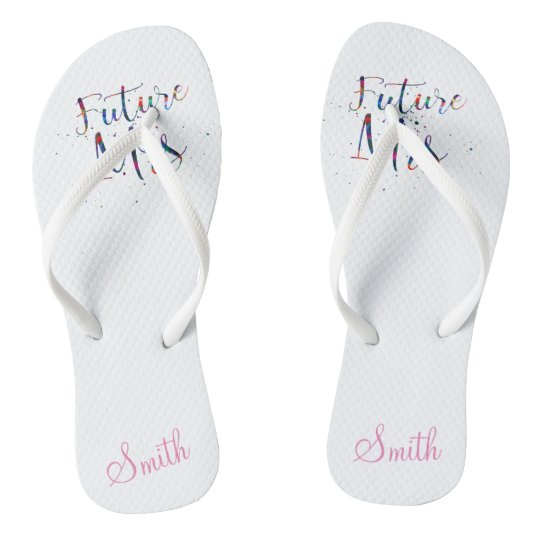 Future Mrs Customisable Flip Flops