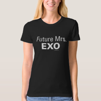 Future Mrs. EXO Women's Black Organic Tee